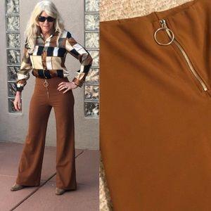 1970's style zip front pants